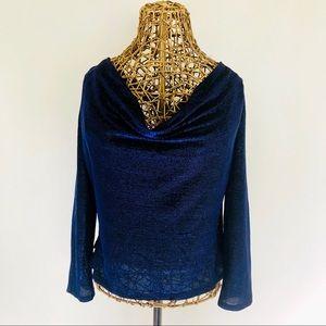 Zara Cowl Neck Drape Back Blouse